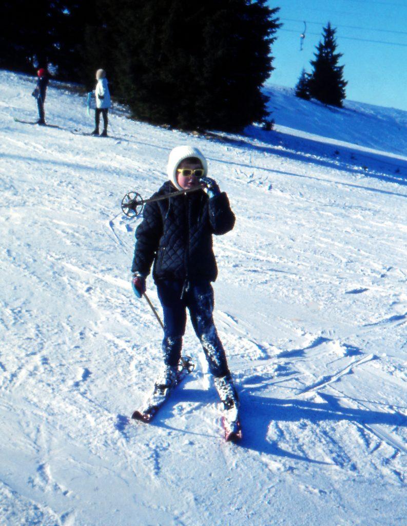 1970: mit 5 Jahren auf den Skiern