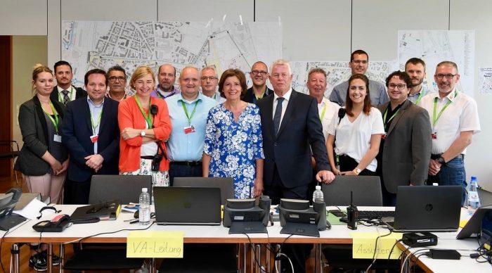 2018: MP Dreyer und OB Kissel im Sicherheitsstab RLP-Tag Worms