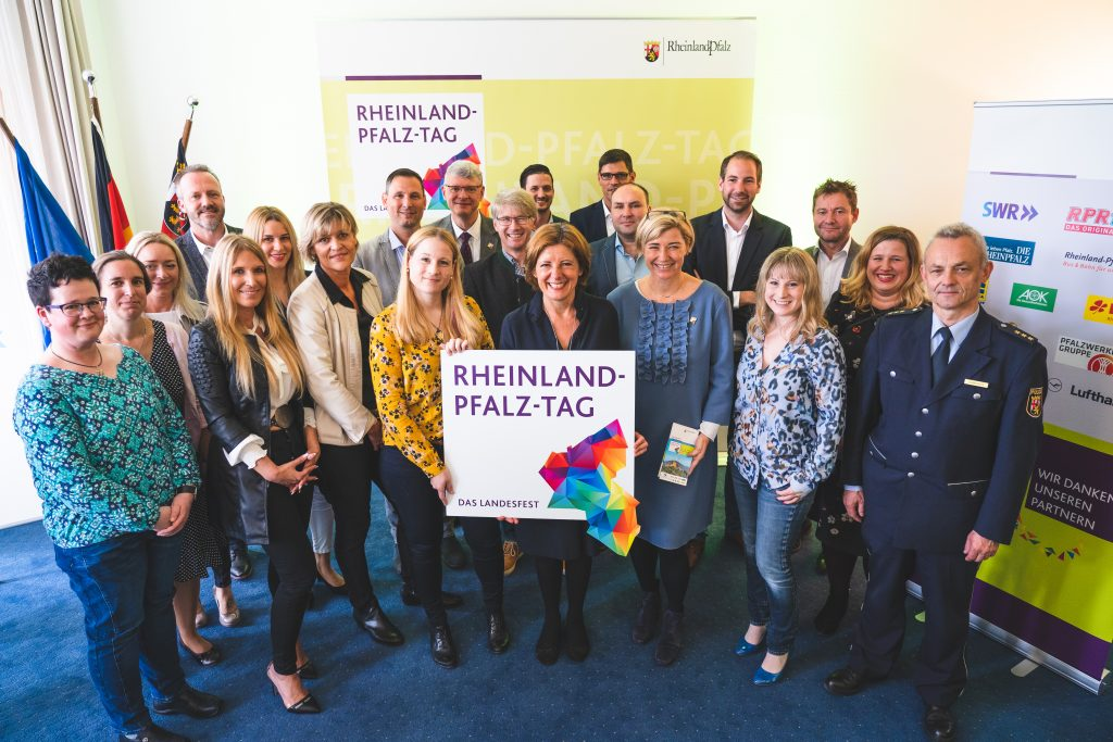 2019: MP Dreyer und Team RLP-Tag Annweiler in Mainz